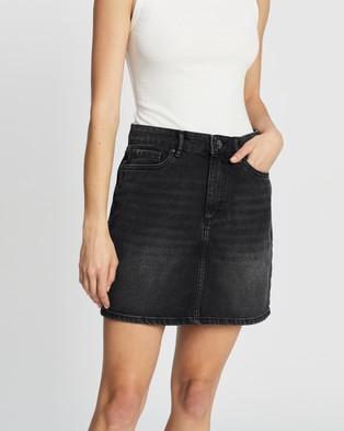 ONLY A Shape Denim Skirt - Clothing (Black)