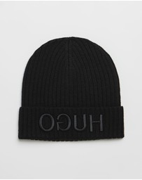 HUGO - Reversed Logo Wool Beanie