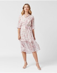 MVN - Lafayette Tie Neck Dress