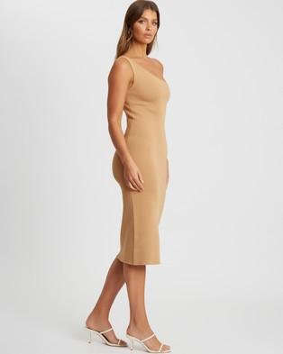 Tussah - Arielle Knit Dress - Bodycon Dresses (Tan) Arielle Knit Dress