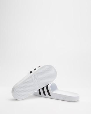 adidas Performance Adilette Aqua Slides   Men's - Slides (Cloud White, Core Black & Cloud White)