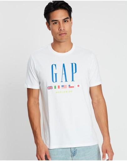 Gap Ss G-world Tee Optic White