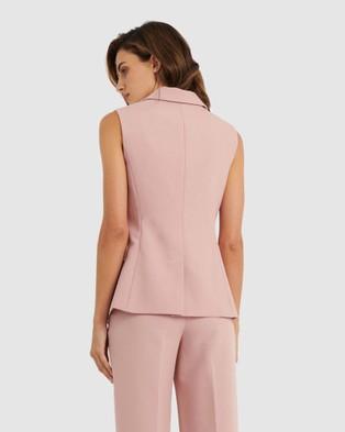 Forcast Toni Sleeveless Blazer - Suits & Blazers (Dusty Pink)