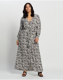 Missguided Curve - Plus Plunge Leopard Maxi Dress