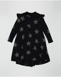 Nununu - Ruffled Sleeve 360 Star Dress - Kids