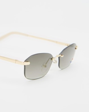 Le Specs Adolfo - Sunglasses (Light Gold)