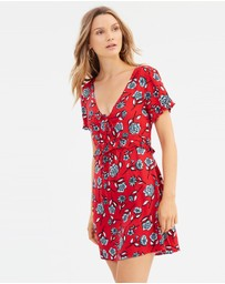 MINKPINK - Red Blooms Dress