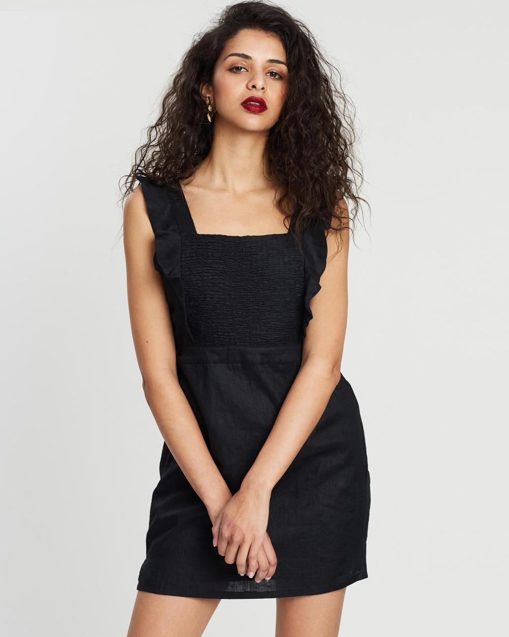 Hansen & Gretel Black Danny Linen Dress