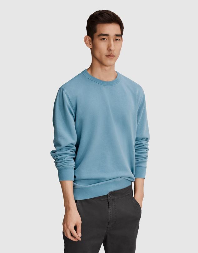Men Organically Grown Cotton Terry Garment Dyed Sweat