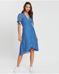 Atmos&Here - Olivia Tie Sleeve Wrap Dress