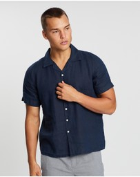 KnowledgeCotton - Linen Short Sleeve Shirt