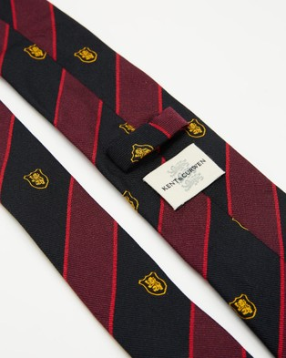 Kent and Curwen - Embroidered Logo Silk Tie - Ties (Red) Embroidered-Logo Silk Tie