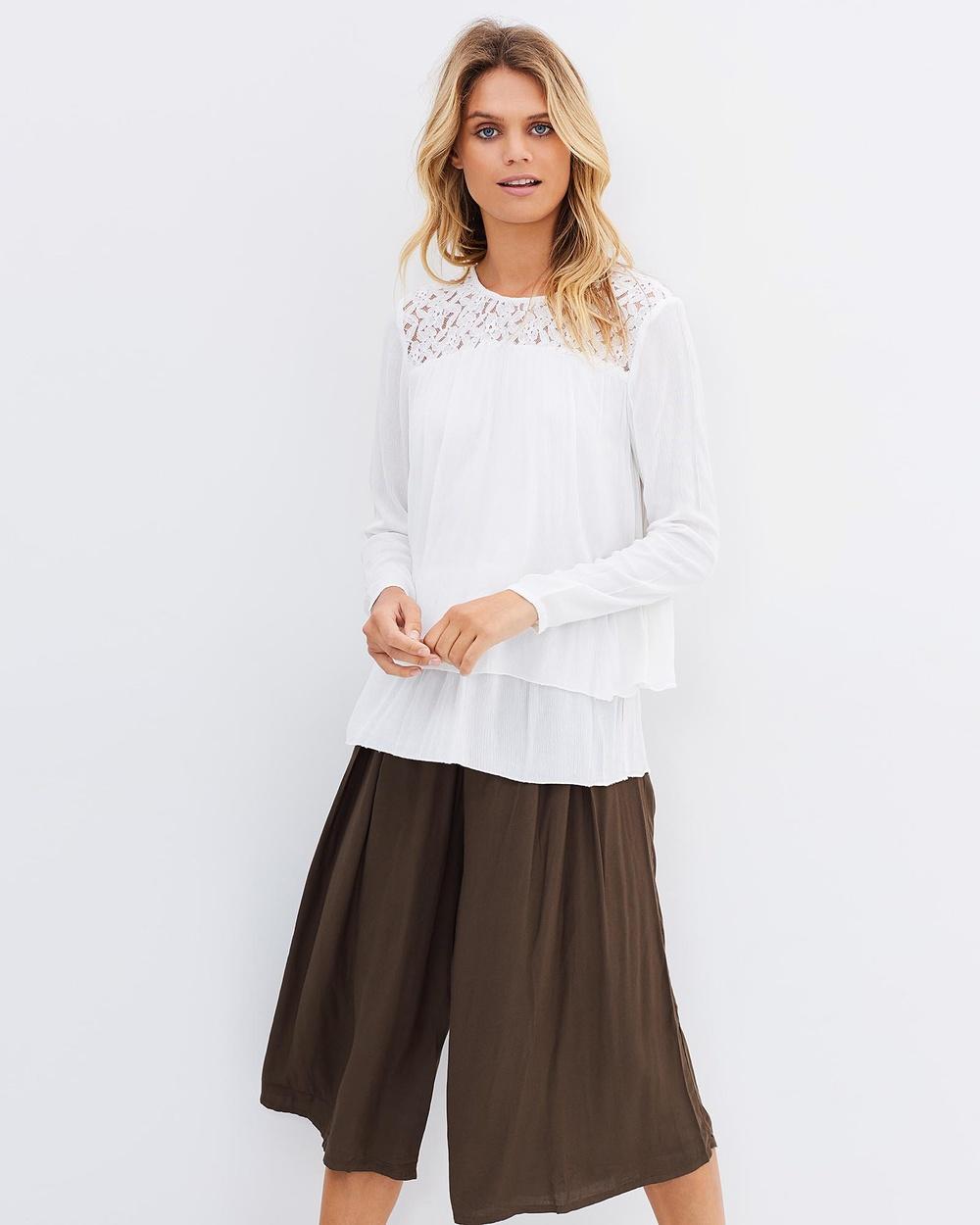 Kaja Clothing Linn Blouse Tops Off-White Linn Blouse
