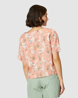 Princess Highway Pelican Friends Top - Tops (Pink)