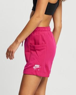 Nike Air Fleece High Rise Shorts - Shorts (Fireberry & White)