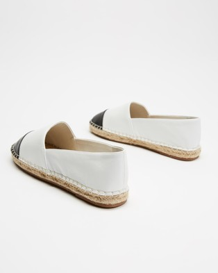 Atmos&Here Riviera Leather Espadrilles - Flats (White Leather)