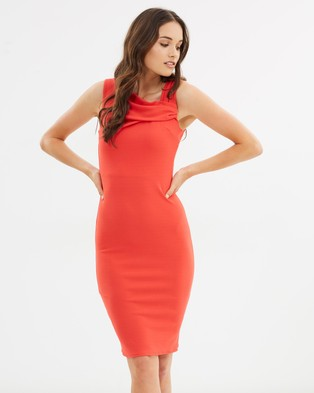 Dorothy Perkins – Louise Body Con Dress – Bodycon Dresses Coral