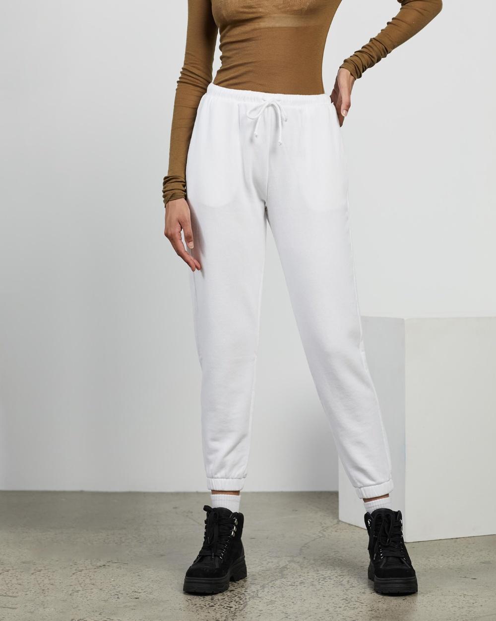 American Vintage Fobye Joggers Sweatpants White