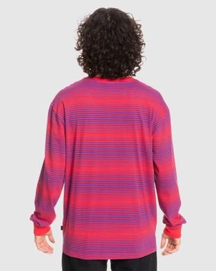Quiksilver - Mens Originals Faded Horizons Organic Long Sleeve T Shirt - Long Sleeve T-Shirts (FADED HORIZONS BARBE) Mens Originals Faded Horizons Organic Long Sleeve T-Shirt