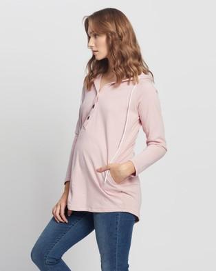 Angel Maternity - & Nursing Hoodie Hoodies (Pink)