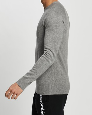 Abercrombie & Fitch Pima Cotton Sweater - Jumpers & Cardigans (120 Grey)