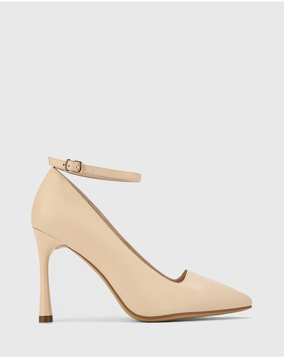 Wittner - Halba Leather Ankle Strap Stiletto Pumps