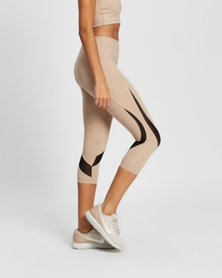 AVE Activewoman Soft Compression Mesh Tights - all compression (Nude)