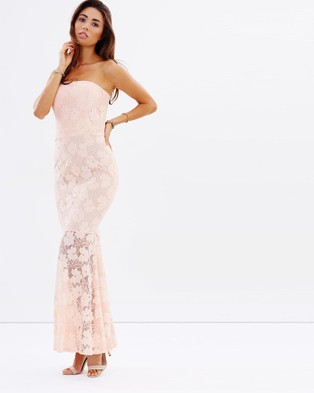 Romance by Honey and Beau – Oracle Strapless Maxi – Dresses (Peach)