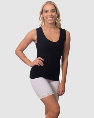 B Free Intimate Apparel Bamboo Tank Top - Tops (Black)