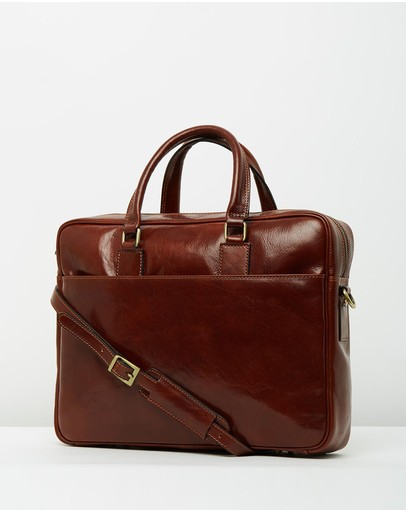 Republic of Florence - The Tokyo Brown Briefcase