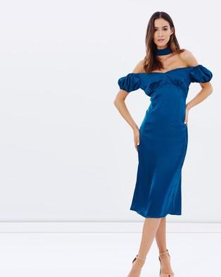 Lioness – Casablanca Midi Dress – Dresses (Teal)