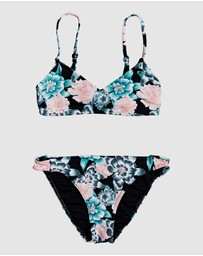 Roxy - Girls 8-14 Surf My Mind Athletic Bikini Set