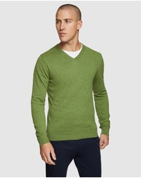 Oxford - Cotton V-neck Pullover