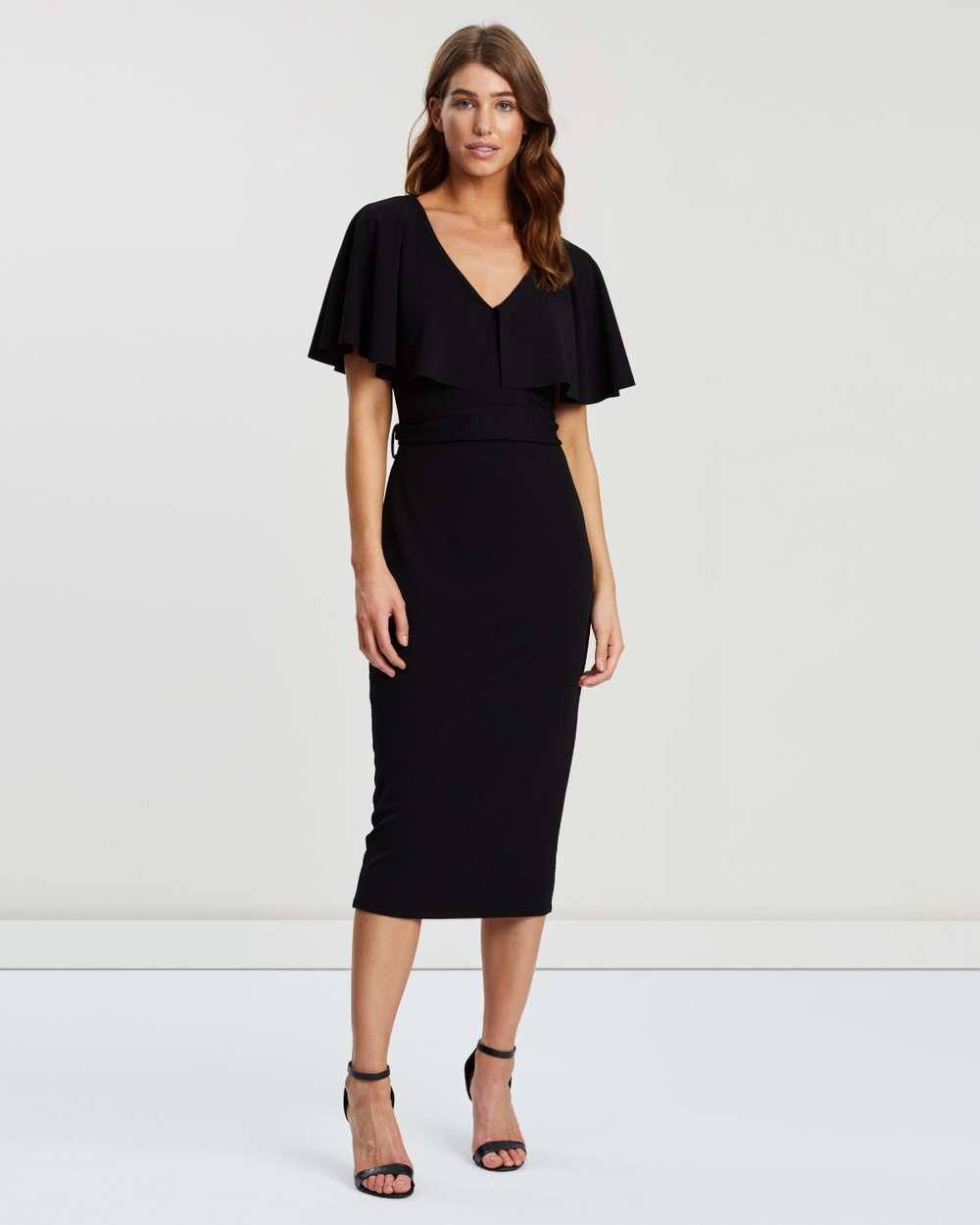 Pasduchas Black Mrs Carter Midi Dress