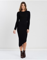 Atmos&Here - Long Sleeve Maxi Knit Dress