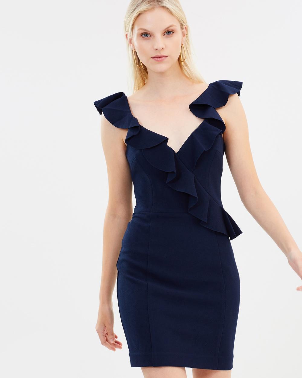 Rebecca Vallance Femmes Mini Dress Bodycon Dresses Ink Femmes Mini Dress