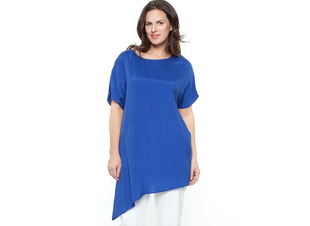 Nouvelle Woman Angled Top Tops Azure Angled Top