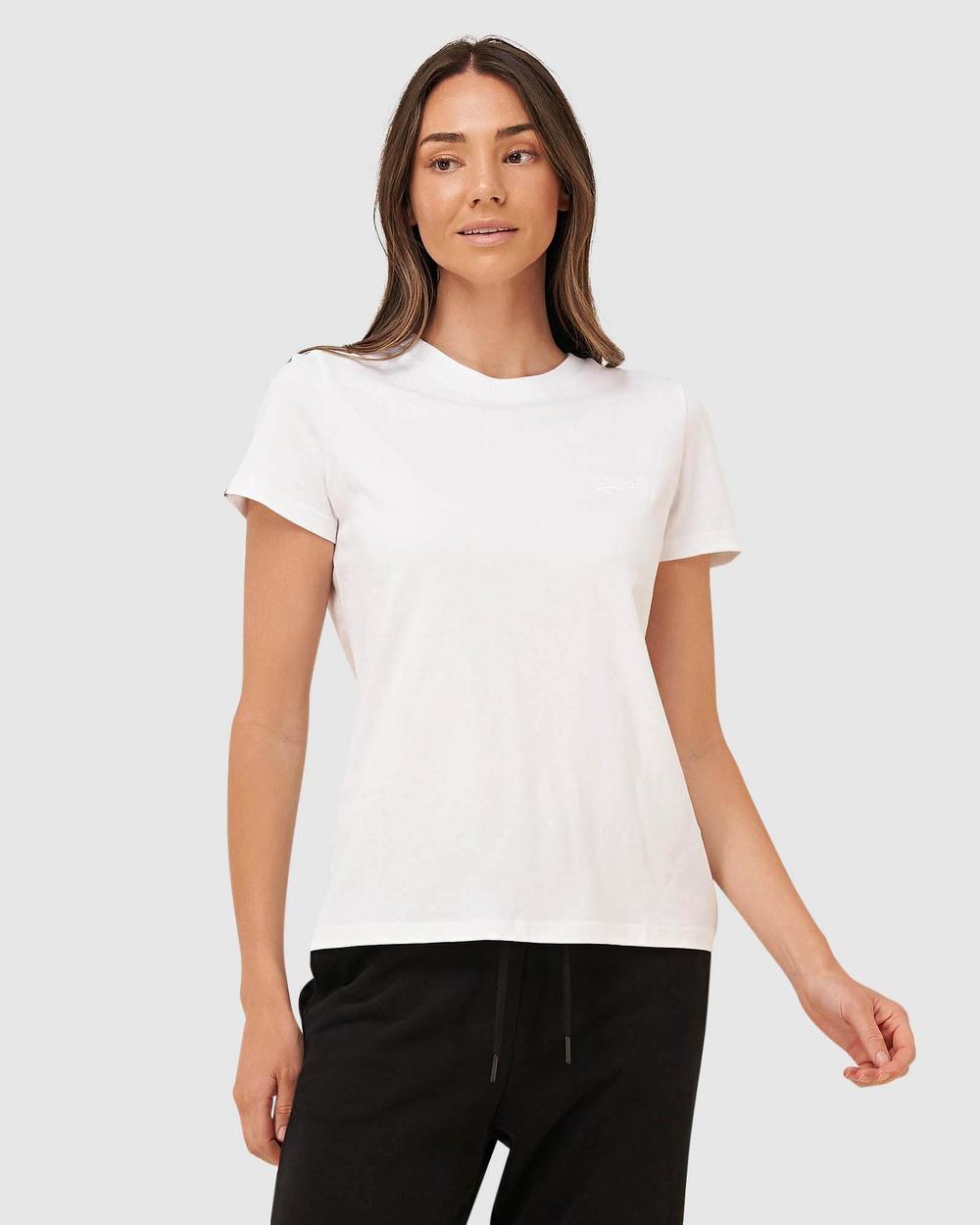 Superdry - Orange Label Elite Crew Tee - T-Shirts & Singlets (White) Orange Label Elite Crew Tee