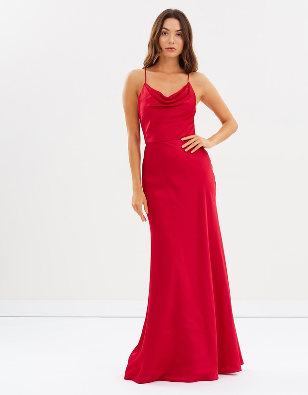Pretty Little Mind Cowl Draped Gown by Bariano Online | THE ICONIC ...