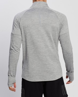 2XU Pursuit Thermal 1 4 Zip LS Top - Coats & Jackets (Grey Marle & Silver Reflective)