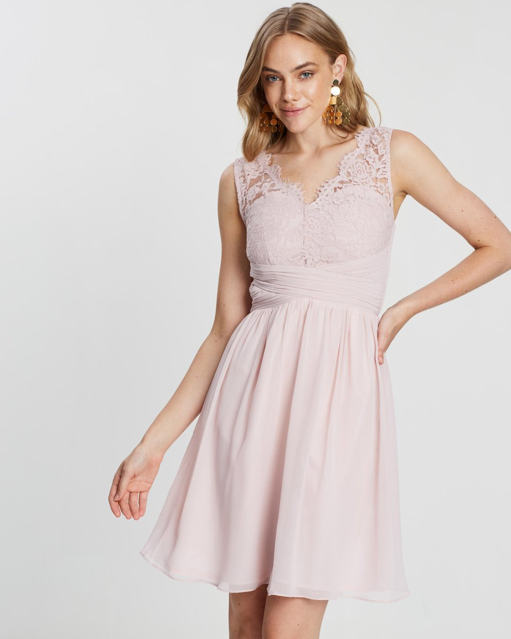 Belle Lace Detail Prom Dress By Dorothy Perkins Online The Iconic