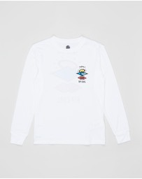 Rip Curl - Search Logo Long Sleeve UV Rash Vest - Teens
