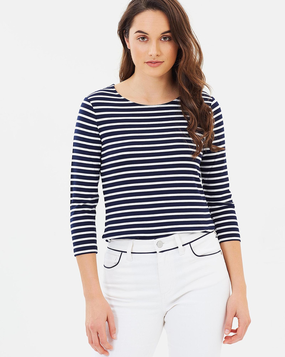 Sportscraft Stripe Magic Tee Tops blue Stripe Magic Tee