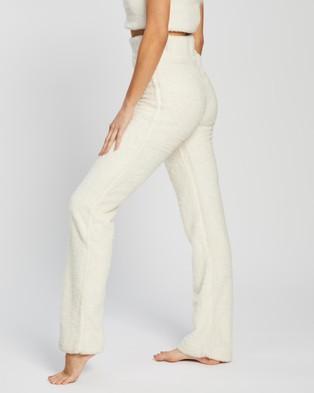 Dazie Heaven Fluffy Pants - Sweatpants (Cream)
