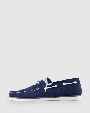 Aquila Admiral Boat Shoes - Dress Shoes (Navy)