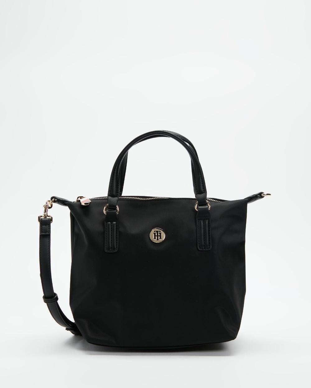 Tommy Hilfiger Poppy Small Tote Bag Handbags Black