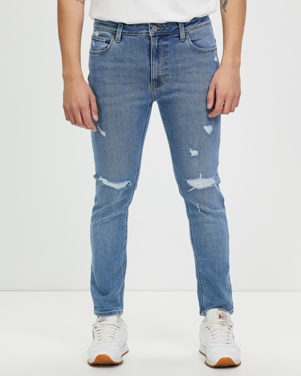 Abrand A Dropped Skinny Jeans Cam Cam Shred