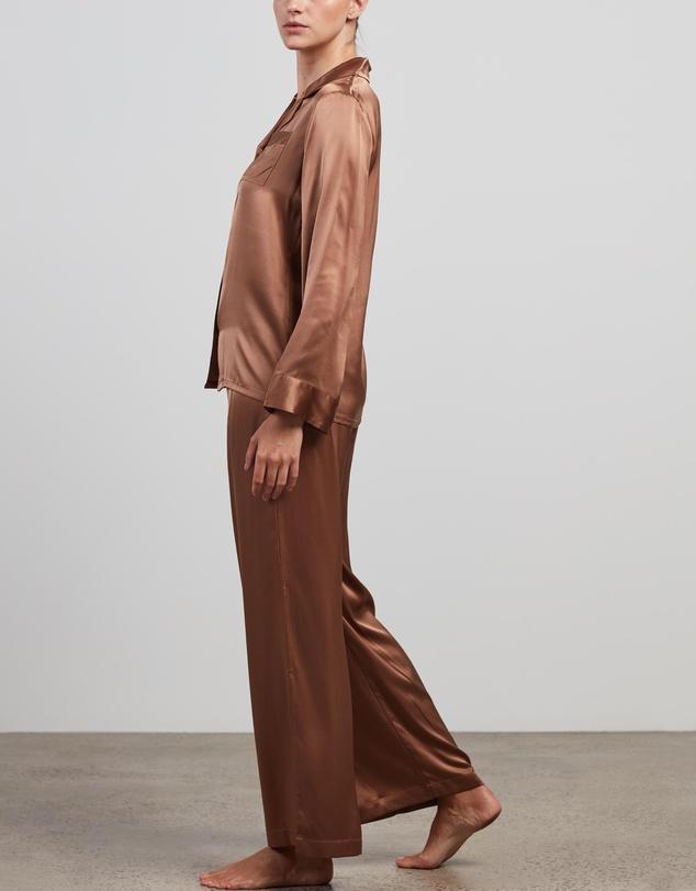 Women Silk Shirt & Pants Set