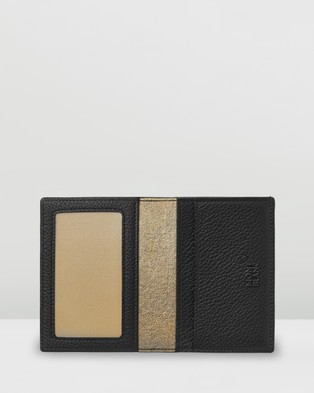 Montblanc Meisterst??ck Soft Grain My Office Business Card Holder - Wallets (Black & Gold)