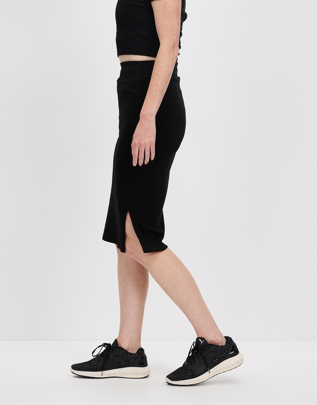 Women Classics Ribbed Midi Skirt
